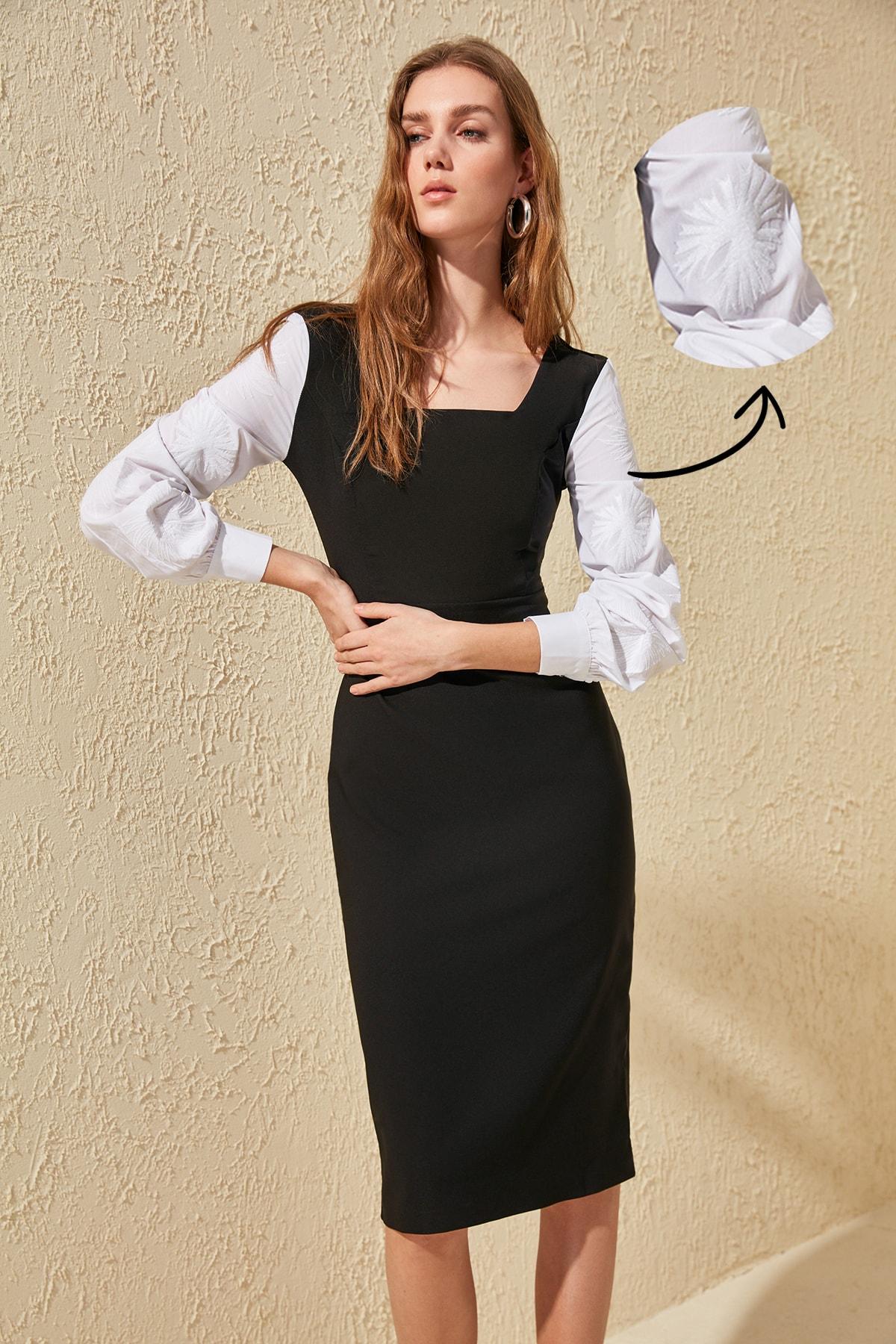 Trendyol Handles Embroideried Dress TWOSS20EL0527