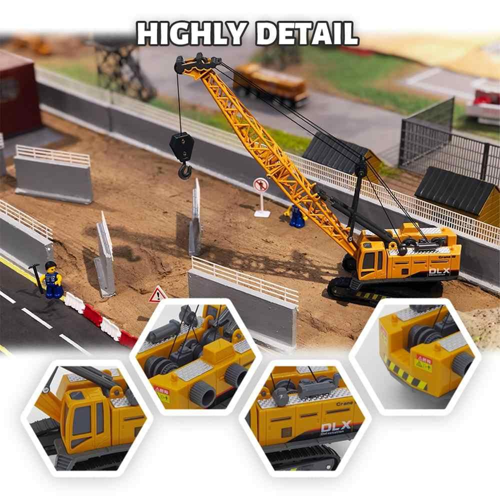 Vinç oyuncak inşaat aracı 1:50 Diecast mühendislik oyuncaklar kamyon traktör yüksek simülasyon erkek makine modeli oyuncaklar çocuklar için