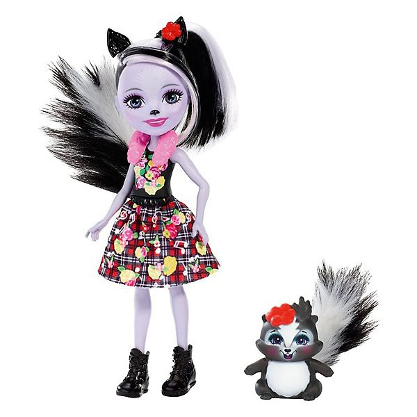 Doll With Your Favorite Animal Enchantimals, Sage Skunkie And Caper
