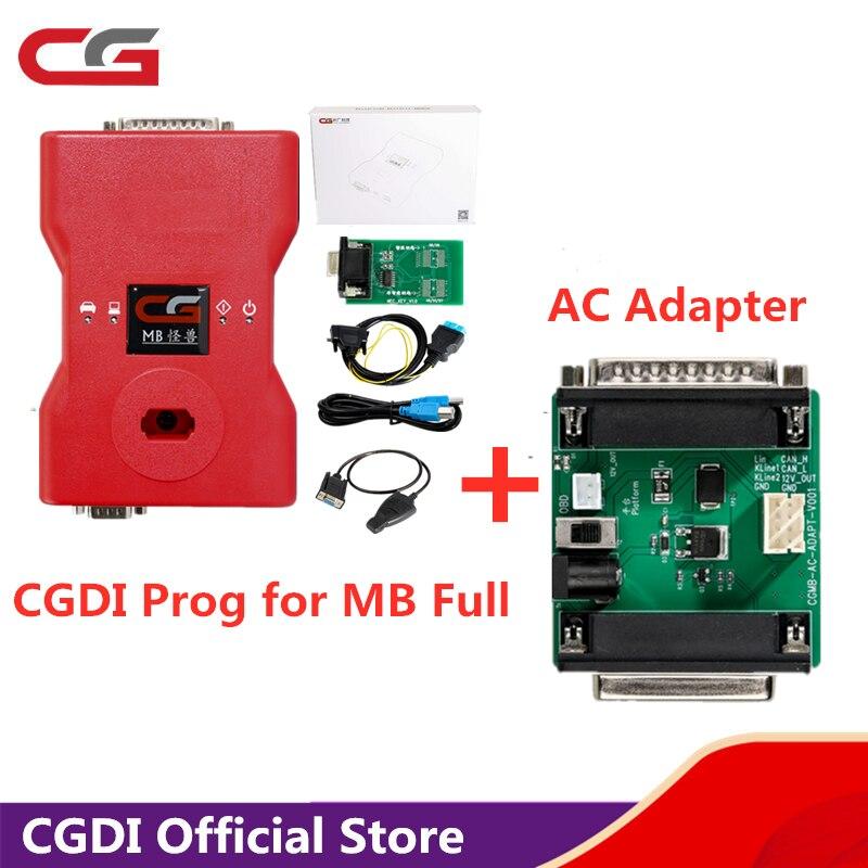 CGDI dla MB klucz programujący z adapter ac pracy z mercedesem W164 W204 W221 W209 W246 W251 W166 do rejestrowania danych za pośrednictwem OBD