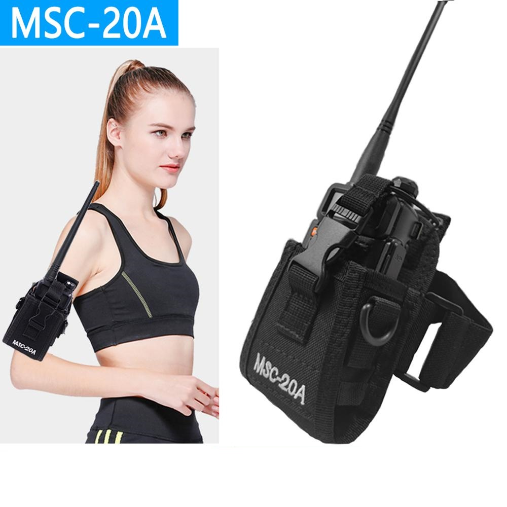1Pcs Abbree MSC-20D Nylon Carry Case For Walkie Talkie BaoFeng UV-5R UV-5RA UV-5RB UV-5RC/5RE UV-B6 BF-888S TYT Mototrola Radio