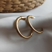 Pipe Gold Ring Women 'S Earrings 2021 Trend