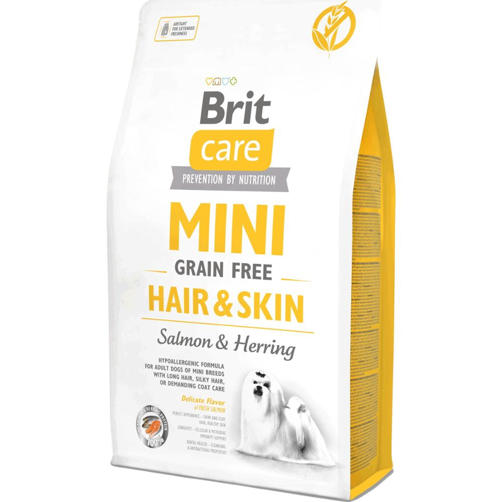 Brit Care Hair Skin Health Small Breed Dog Food With Salmon And Herring 2 Kg Food Healthy Growth Feeding Pet
