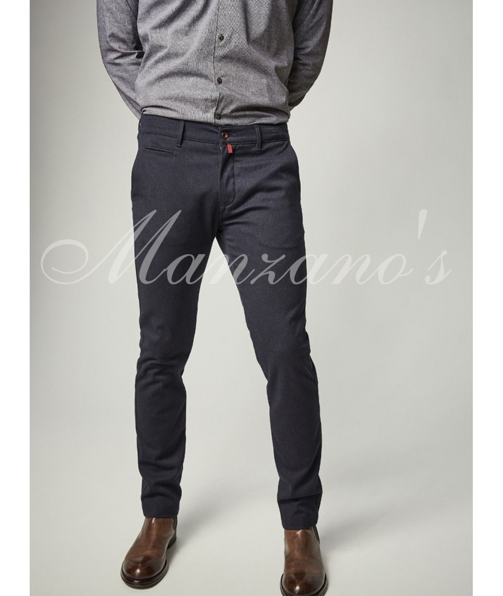 Trousers CHINESE PIERRE CARDIN BLUE Long Pants For Men's Dressy Bodysuit Color Blue Menswear 2020