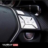 Steering Wheel Button Switch Trim Cover Sticker kit for Mercedes Benz A B C E ML GL CLA GLA GLK SL SLK Class W176 W246 W212 W204