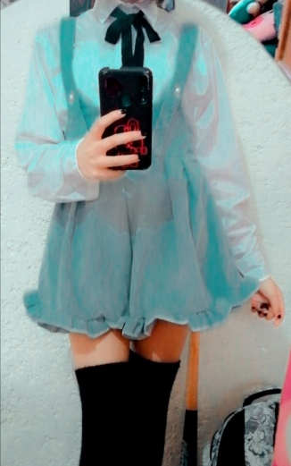 Egirl Soft girl Loose Solid Corduroy Playsuitswith Ruffles photo review