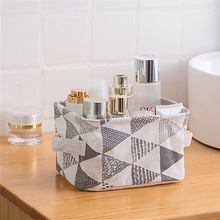 Geometric Stripe Desktop Storage Basket Large Clothes Organizer Fold-able Underwear storage Bags Waterproof Sundries Box