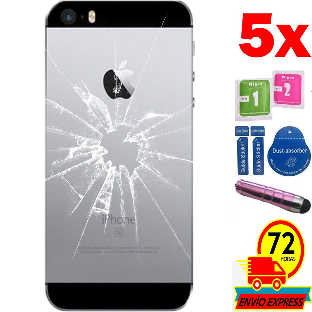 5x Protectors Screen Tempered Glass for for APPLE IPHONE SE (Generico  Not Full SEE INFO) PEN PINK Phone Screen Protectors     - title=