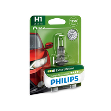 PHILIPS 12258LLECOB1 H1 12 V-55 W (P14, 5S) (увелич. Service life) LongLife Ecovision blister card (1 pc) 33107