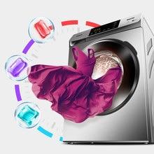 Цветной стиральный шарик капсулы растворить очиститель пятен концентрат стиральный порошок Pod одежда аромат жидкость случайный