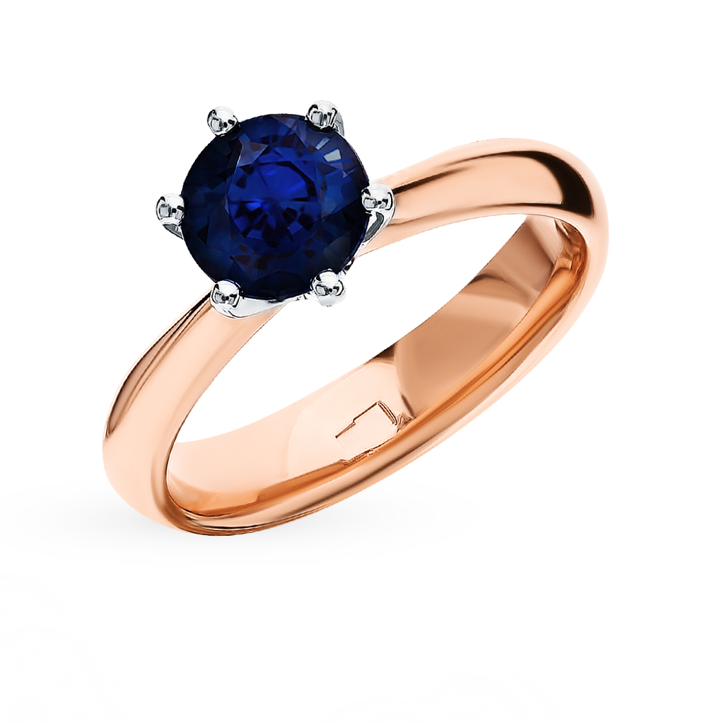 Gold Ring With Sapphires Sunlight Sample 585
