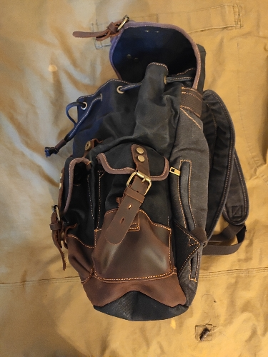 M272 Vintage Canvas Leather Backpacks For Men Laptop Daypacks Waterproof Canvas Rucksacks Large Waxed Mountaineering Travel Pack photo review