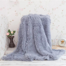 Hot Sales Fluffy Plush Fleece Blankets for Bed Soft Throw Blanket Air Conditioning Manta Solid Bedspreads Cobertor Girl Wedding