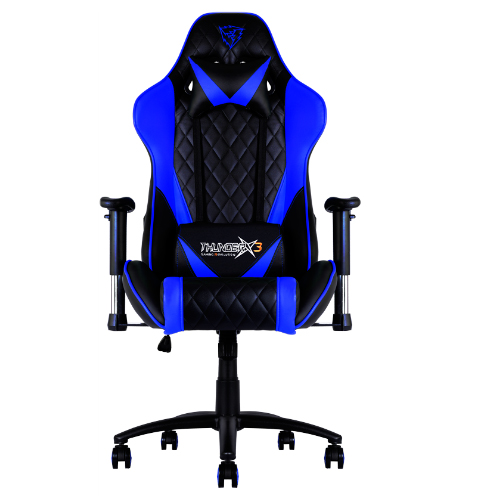 Chair Gamer Pro Thunderx3 Tgc15bb Color Black/blue Up Seat Recliner Rests Adjustable Arms Finish Piel Hidr Base