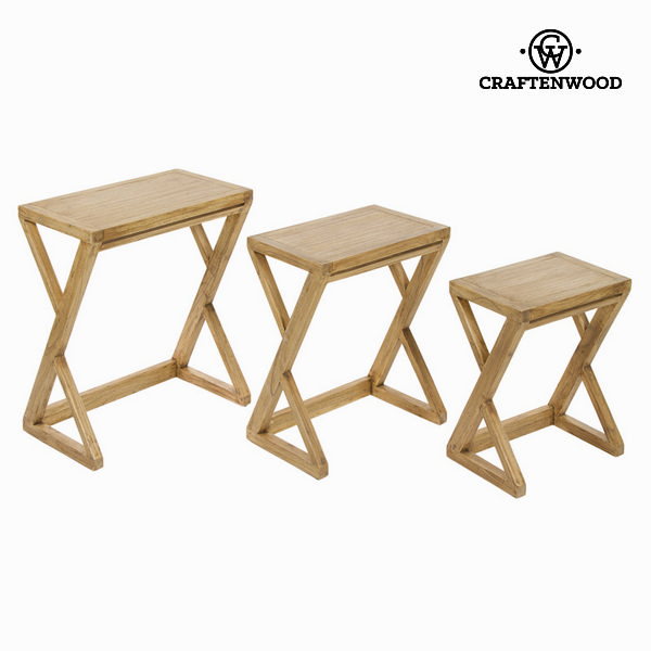 Set Of 3 Tables Mindi Wood IOS - Village Collection By Craftenwood