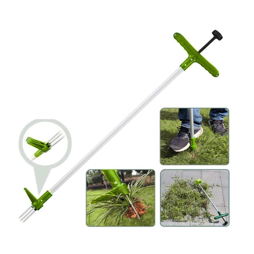 Up Weed Claw Handled Weeder Remover Stand Tool Puller Killer Portable Garden Long Outdoor Lawn Aluminum Manual Root