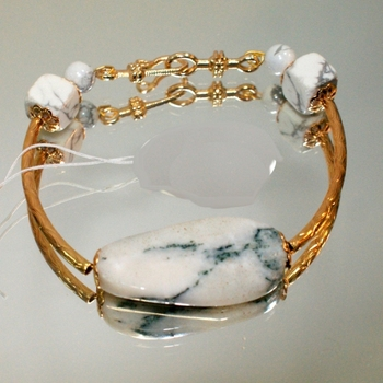 Fashion Bracelet with agate natural white gold plated jewelry set fashion jewelry for women Style 2020