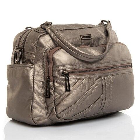 Wash Leather Shoulder Bag
