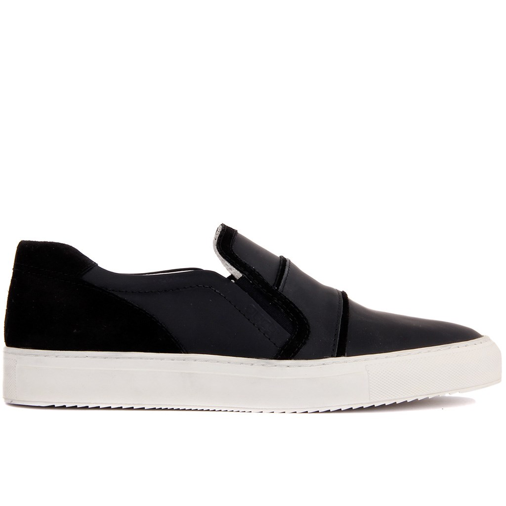 Sail-Lakers Black Suede Leather Men 'S Casual Shoes