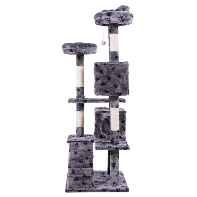 Pet Cat Tree Toy Condo Cat Climbing Tower Multi-layer With Hammock Cat House Furniture Scratching Solid Wood Post for Cat 3