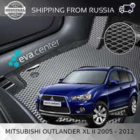Car Mats EVA for Mitsubishi Outlander XL II 2005-2012 set of 4x mats and jumper