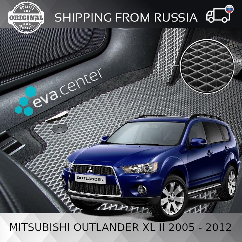 Tapis de voiture EVA pour Mitsubishi Outlander XL II 2005-2012 ensemble de 4x tapis et cavalier