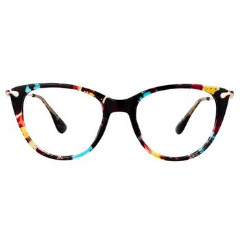 Zeelool Chic TR90 Lightweight Cat Eye Glasses for Women Clement FX0052 image