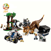 2018 New 75929 648pcs Jurassic World Carnotaurus Gyrosphere Escape Model Building Block Toys For Children Gift