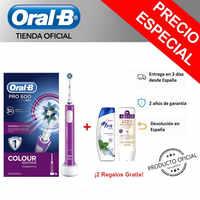 Oral B PRO 600 CrossAction Viola Edizione Cepillo de dientes eléctrico con tecnología Braun + Champú H & S Mentolo + Champú Aussie