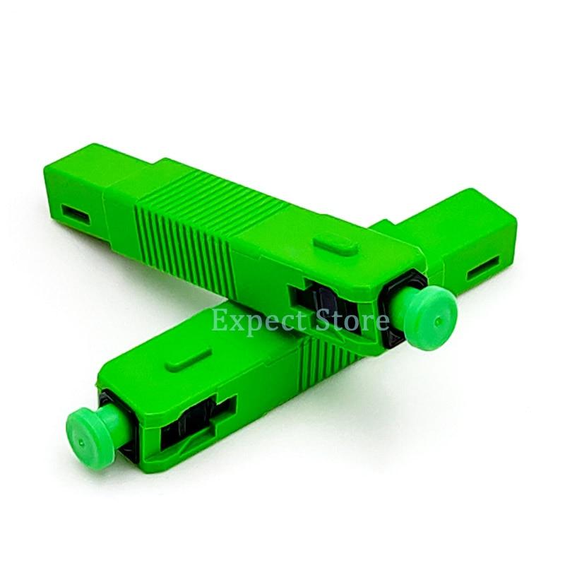 Wholesales 200PCS/lot FTTH MES250P Optic Fast Connector SC APC Single-Mode Optical Fiber Quick Connector APC