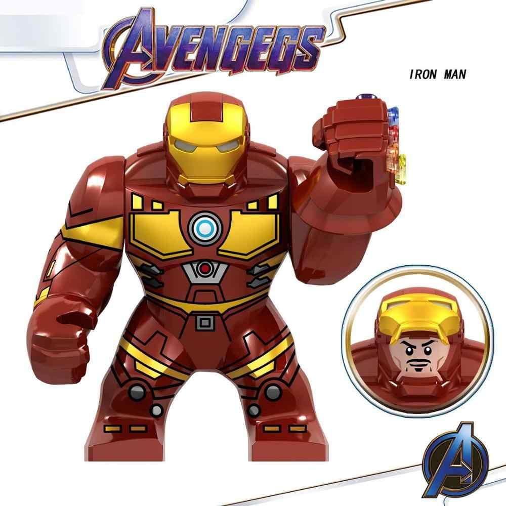 Marvel Avengers Spiderman Hulks Thanos Iron Man Batman Venom Wolverines Building Blocks figurki zestawy zabawki dla dzieci prezenty