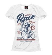 Girls's T-shirt bike racing