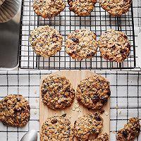 搅一搅就的超美味㊙️高纤燕麦饼干的做法图解4
