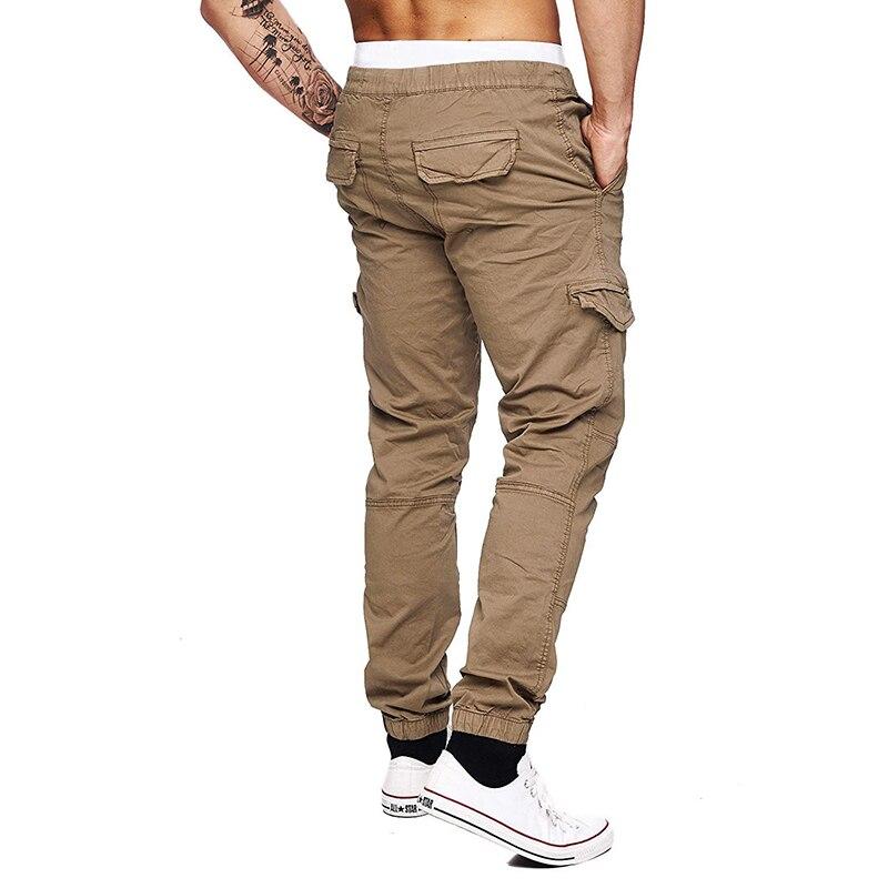 Joggers masculinos tático calças casuais hip pop