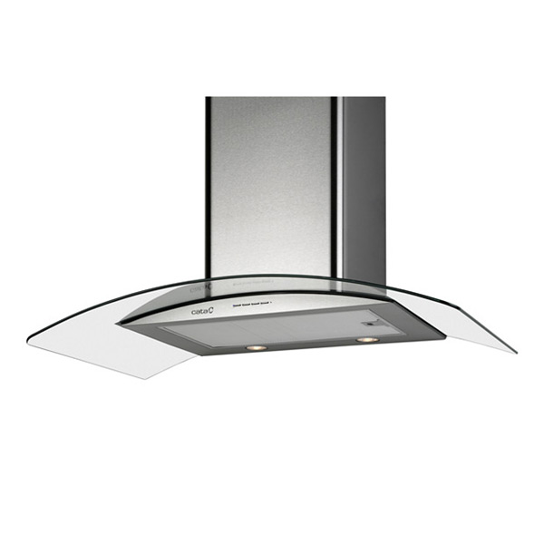 Conventional Hood Cata GAMMA 900 INOX CRISTAL 90 Cm 790 M3/h 65 DB 240W Stainless Steel