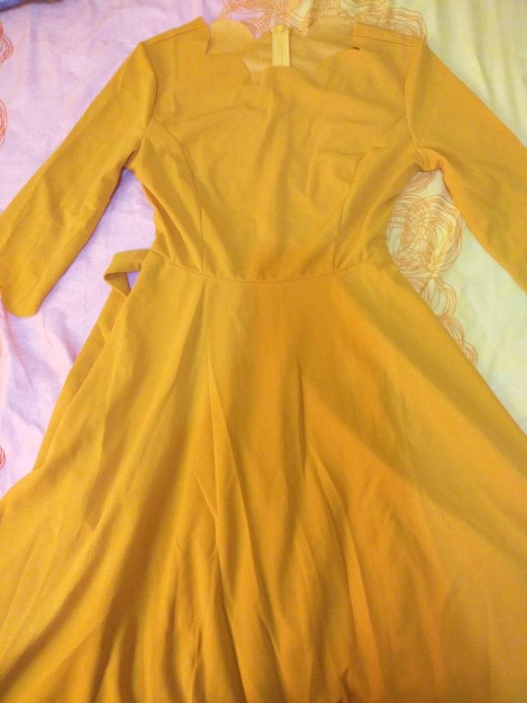 Elegant Scallop Edge Bodycon Dress Women Burgundy 3/4 Sleeve Solid Pencil Dresses Woman Party Night Ladies Midi Dress photo review