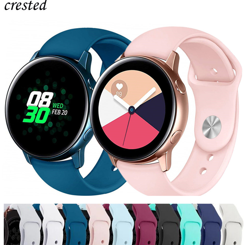 20mm Watch Strap For Samsung Galaxy Watch 42mm/Active Band Gear S2/Sport Soft Silicone Bracelet Amazfit Bip Strap Accessories 42