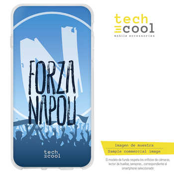 FunnyTech®Stand case for Samsung Galaxy A8 Silicone 2018 L Forza Napoli vers.1