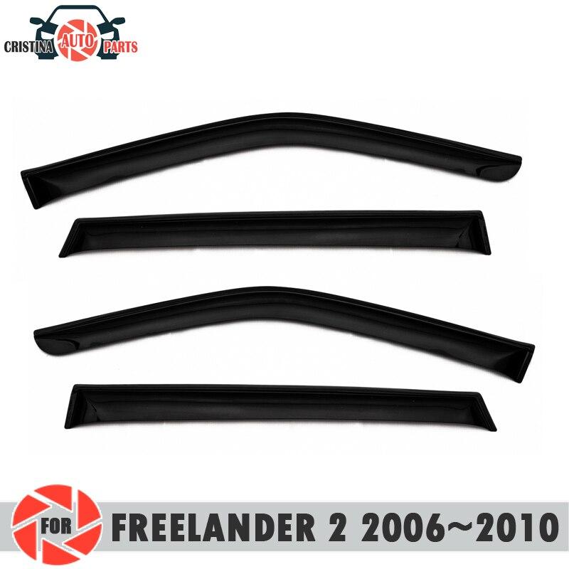 Déflecteur de fenêtre pour Land Rover Freelander II 2006 ~ 2010 déflecteur de pluie protection contre la saleté accessoires de décoration de voiture
