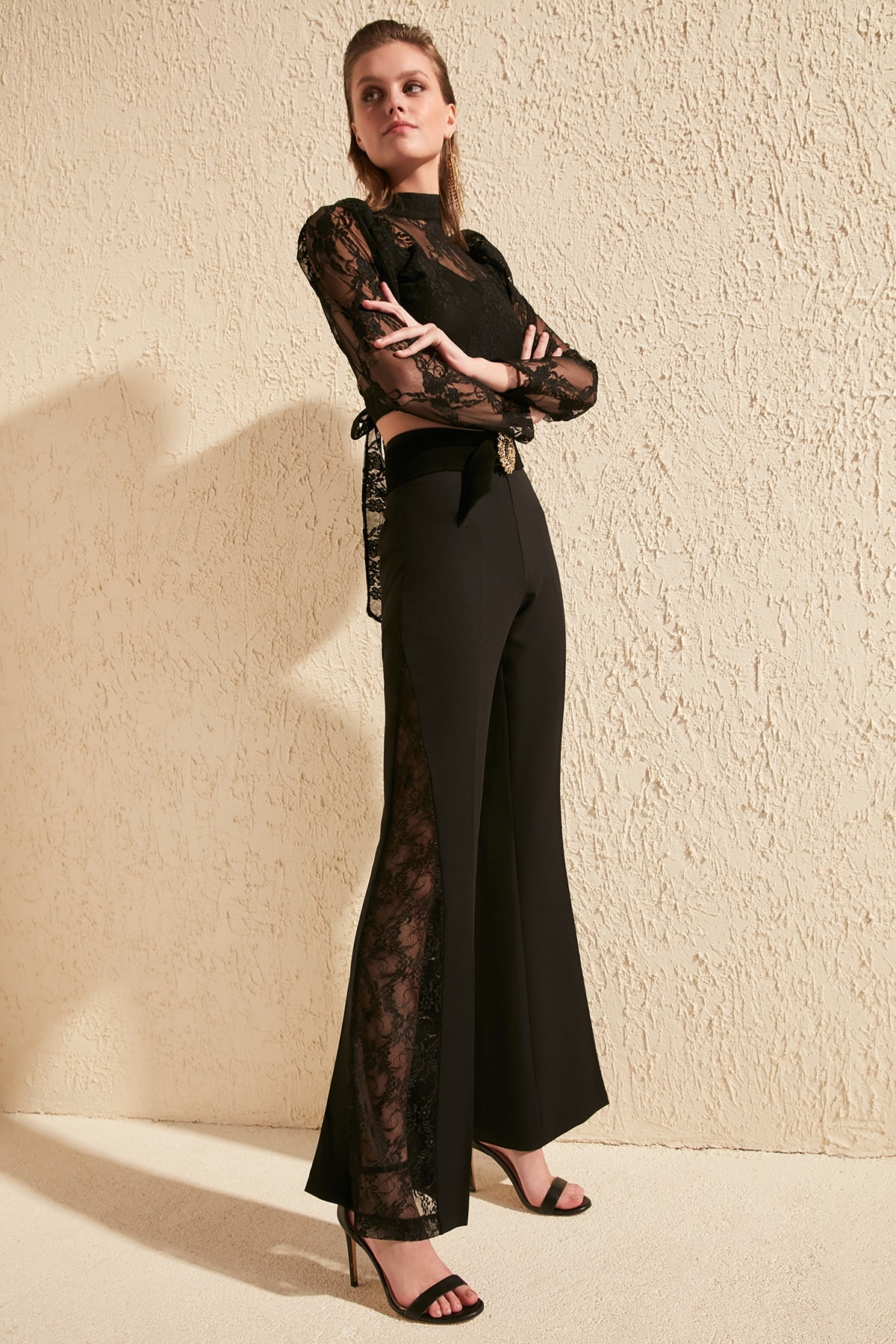 Trendyol Lace Detail Pants TPRSS20PL0037