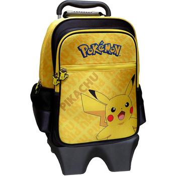 Removable Trolley backpack Pikachu Pokemon size: 35x55x25cm. FREE SHIPPING from Spain