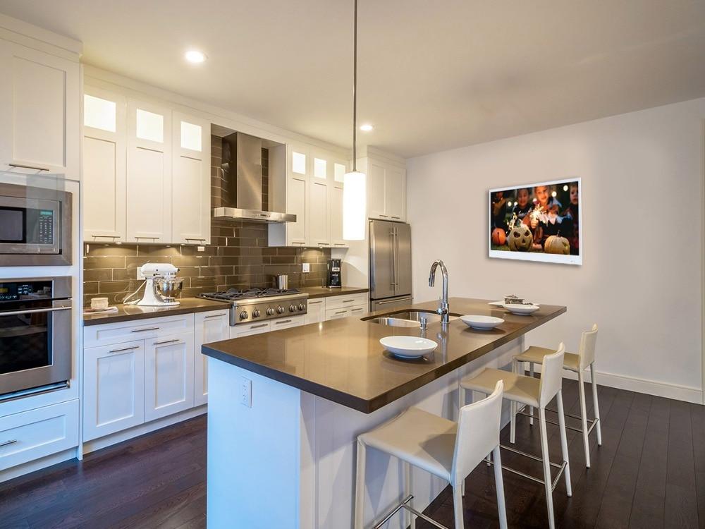 22 Inch Super Thin TV in Kitchen (White)