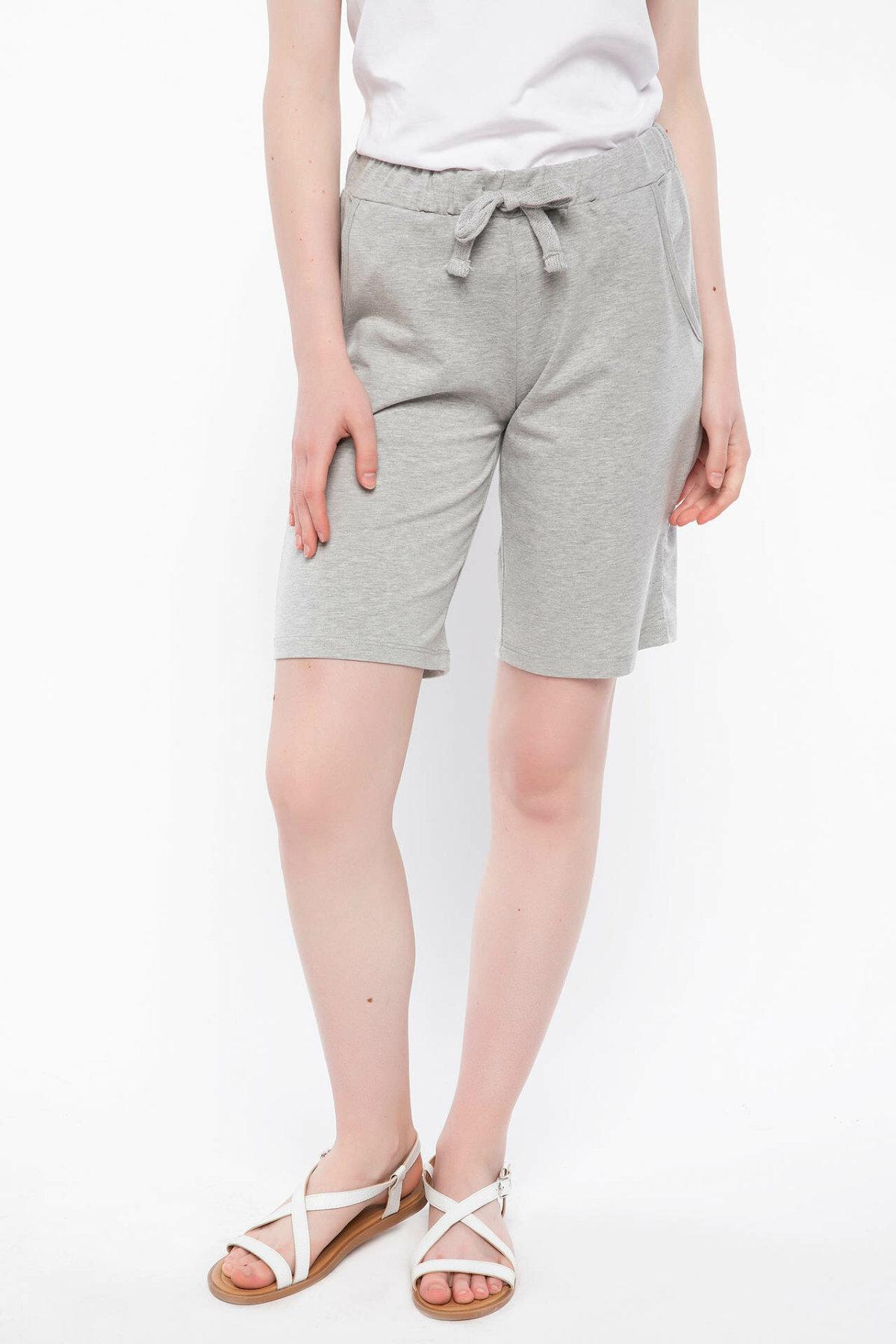 DeFacto Trendy Light Grey Women Summer Shorts Adjustable Casual Street Beach Style Woman Short Pants J6454AZ18HSGR210-J6454AZ18HS