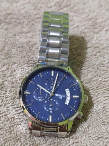 NIBOSI  Men Watches Luxury Famous Top Brand Men's Fashion Casual Dress Watch Quartz Wristwatches photo review