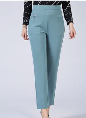 LIS01489 Thin Pants Plus Size Business Formal Women Trousers Slim Female Work Wear Office Lady