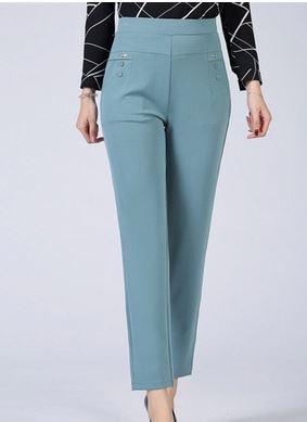 LIS01489 Thin Pants Plus Size Business Formal Women Trousers Slim Female Work Wear Office Lady