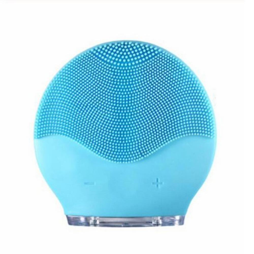 Waterproof Silicone Facial Cleansing Brush Shrinking Pores Oil-Control USB Electric Face Cleansing Device Vibration Massage Tool