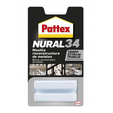 PUTTY REST. METAL 50 GR ADH NURAL-34 PATTEX