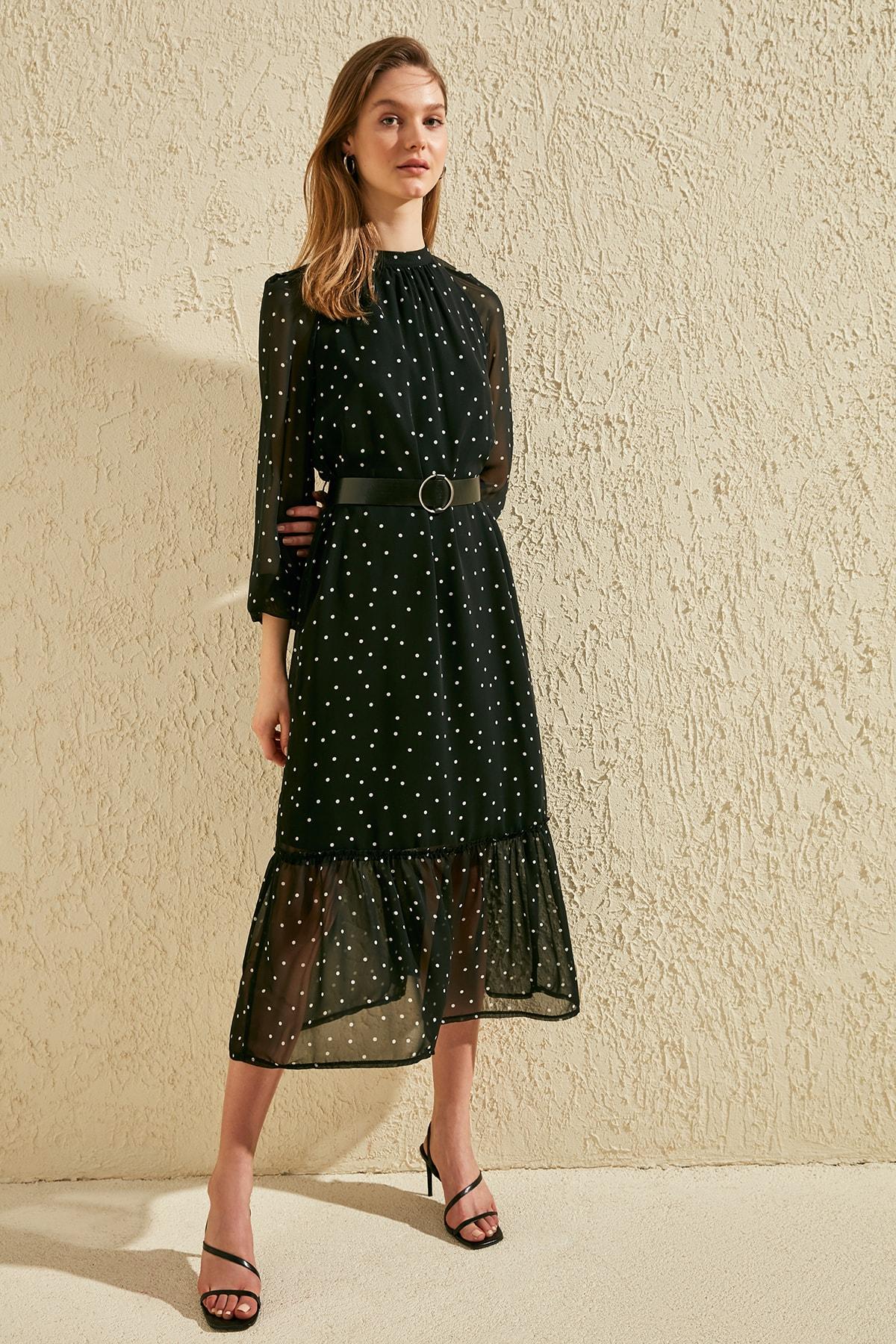 Trendyol Arched Polka Dot Dress TWOSS20EL0982