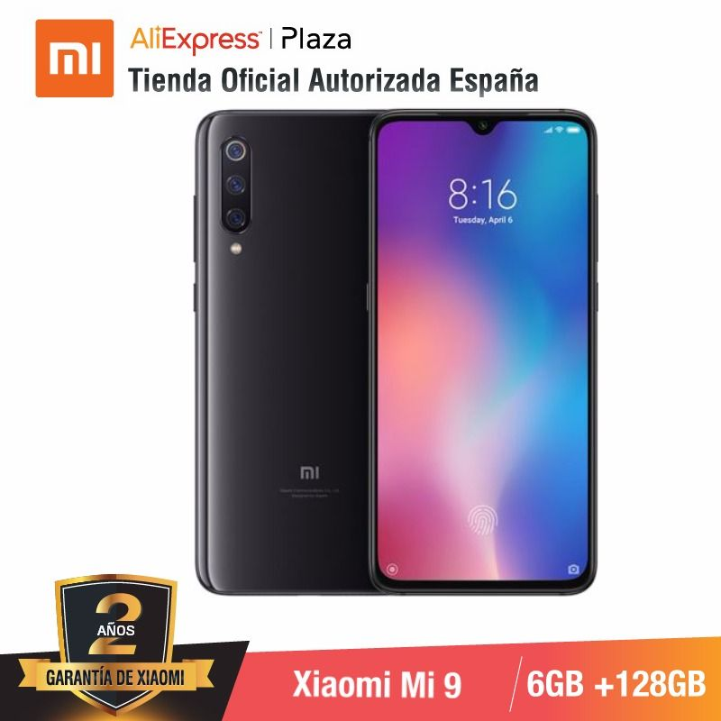Global Version For Spain] Xiaomi Mi 9 (Memoria Interna De 128GB, RAM De 6GB, Triple Camara De 48 MP) Smartphone